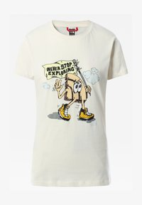 The North Face - W GRAPHIC S/S TEE - Print T-shirt - vintage white - 0