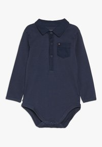 Tommy Hilfiger - BABY BOY POPLIN - Body - black iris - 0