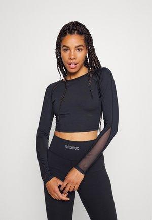 LONGSLEEVE ACTIVE WITH BACK DETAIL - T-shirt à manches longues - black