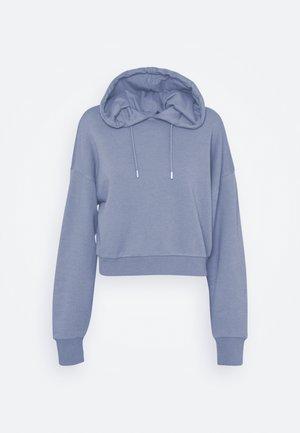 CROPPED HOODIE - Sweatshirt - blue