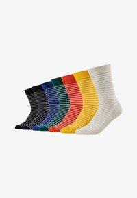 Jack & Jones - JACWIND SOCK 7 PACK - Socks - black/fir - navy blazer - chilli - 1