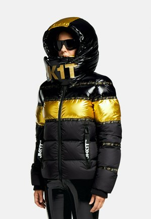 Daunenjacke - black/wet black/gold