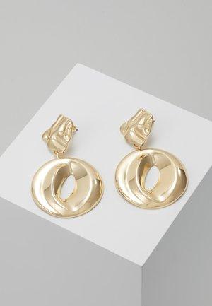 ORGANIC CIRCLE DROP - Oorbellen - gold-coloured