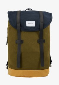 navy/dark olive/honey yellow/black