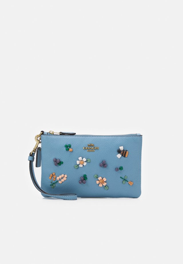 FLORAL EMBROIDERED SMALL WRISTLET - Portemonnee - azure