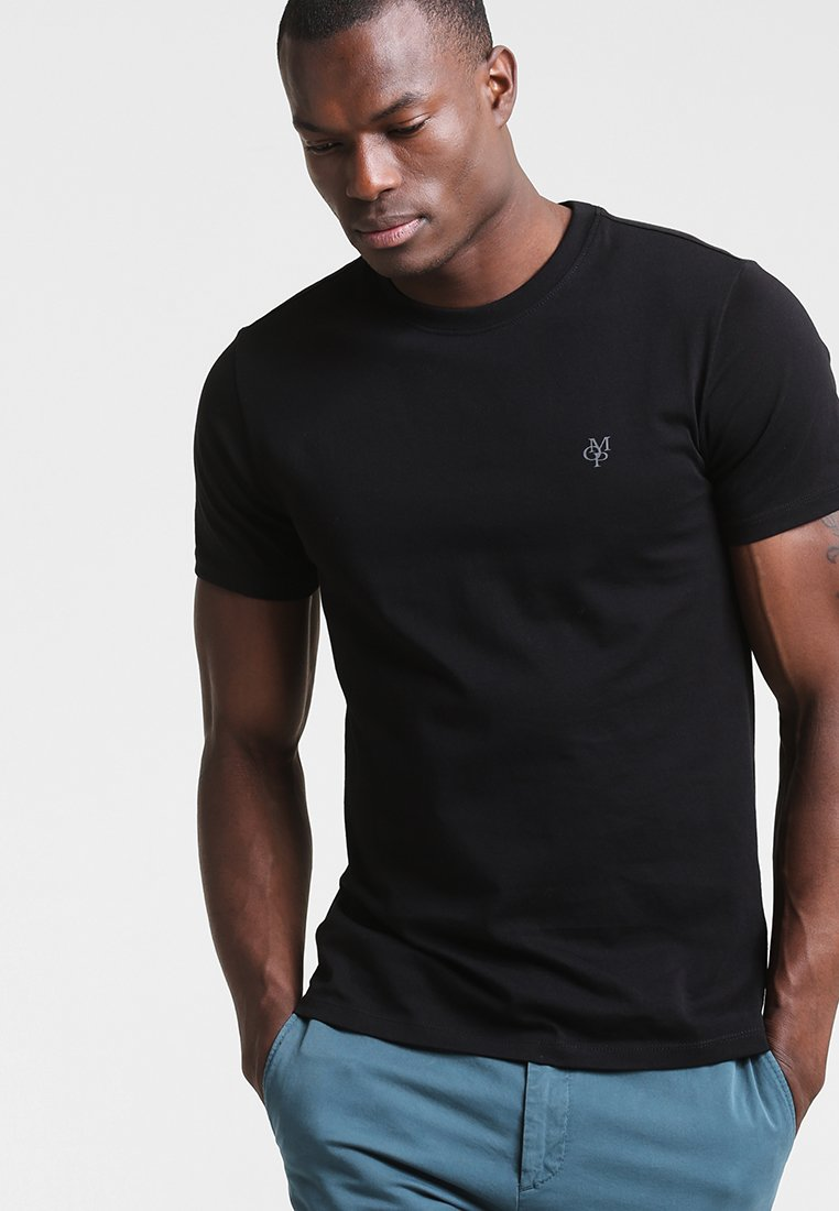 Marc O'Polo - C-NECK - T-shirt - bas - black