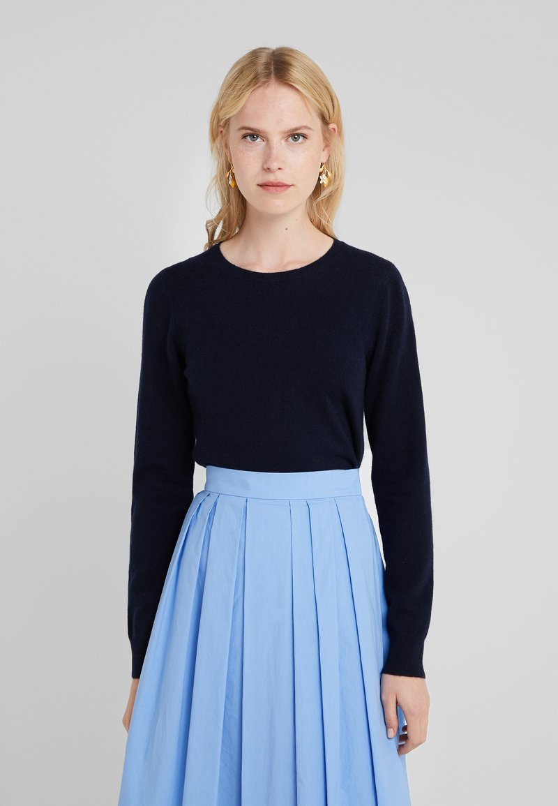 Repeat - CREW NECK CASHMERE - Sweter - navy