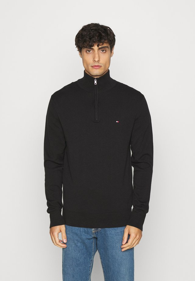 BLEND ZIP MOCK - Jumper - black