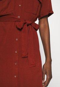 Zign - Shirt dress - dark red - 5
