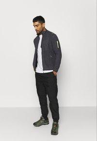 CMP - MAN JACKET - Fleece jacket - antracite/grey/yellow fluo - 1
