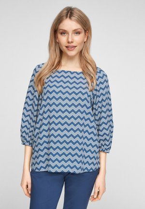 Bluse - faded blue zic zac stripes