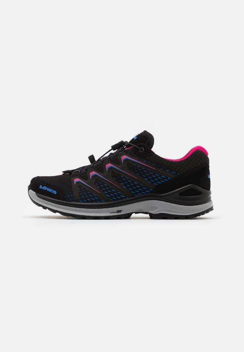 Lowa - MADDOX GTX - Hiking shoes - black/fuchsia