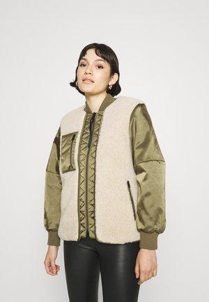 SURI - Bomber Jacket - khaki/ivory