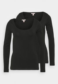 Anna Field Tall - 2 PACK - Long sleeved top - black - 0