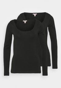 Anna Field Tall - 2 PACK - Camiseta de manga larga - black - 0