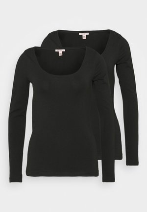 2 PACK - Langærmede T-shirts - black