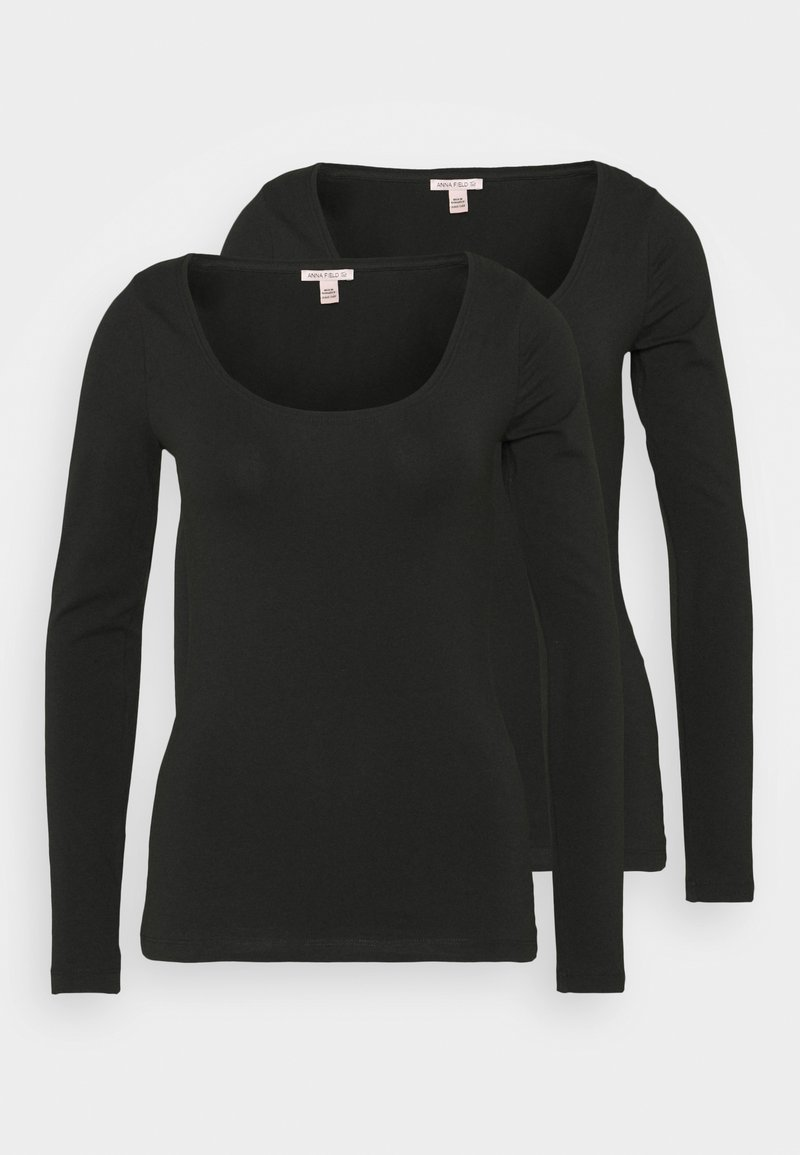 Anna Field Tall - 2 PACK - Long sleeved top - black