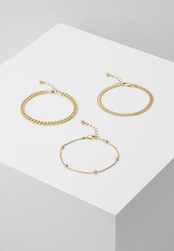PCFIBO BRACELET 3 PACK - Bracelet - gold-coloured