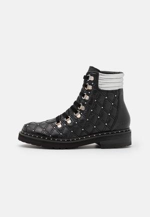 BONNIE  - Lace-up ankle boots - black/silver