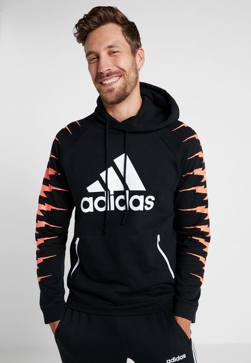 adidas Performance - Jersey con capucha - black