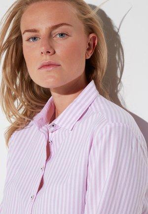 MODERN CLASSIC - Button-down blouse - rosa/weiß
