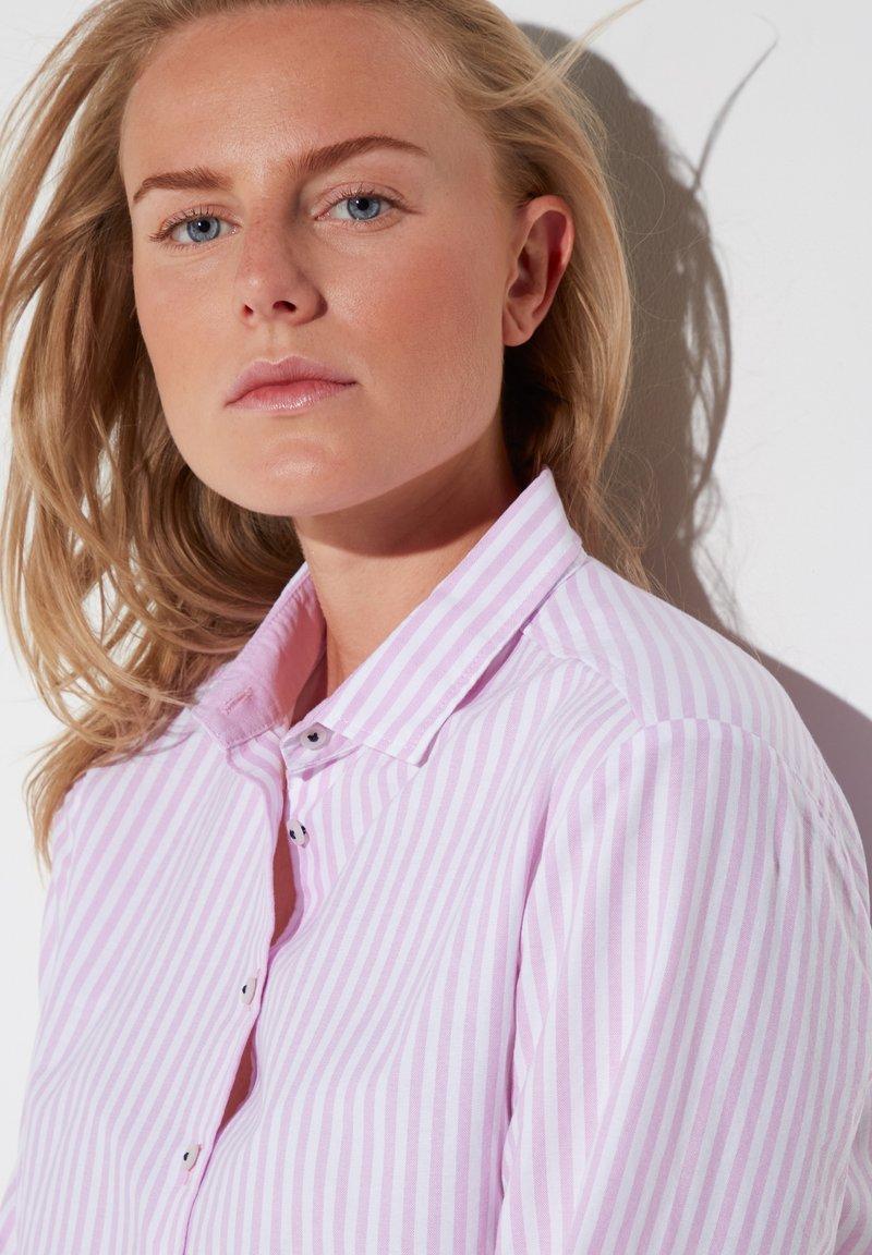 Eterna - MODERN CLASSIC - Button-down blouse - rosa/weiß
