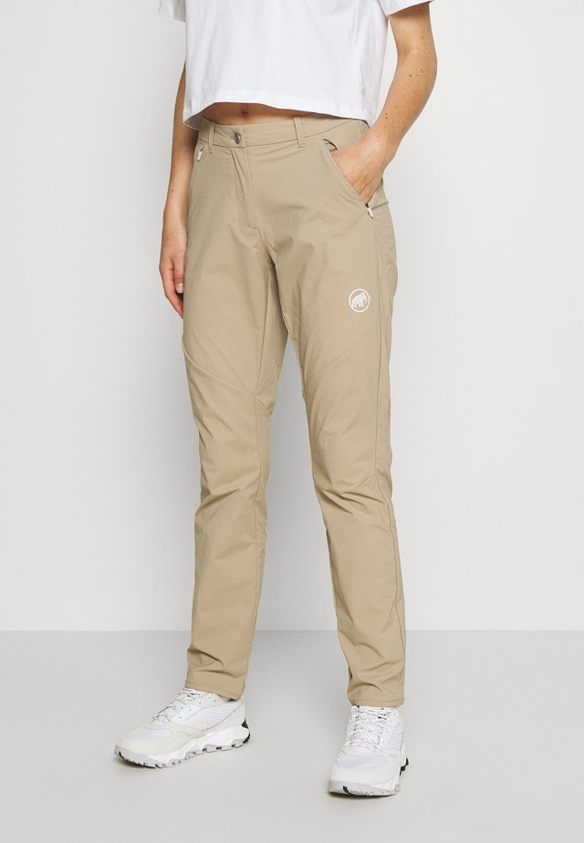 HIKING PANTS WOMEN - Ulkohousut - safari