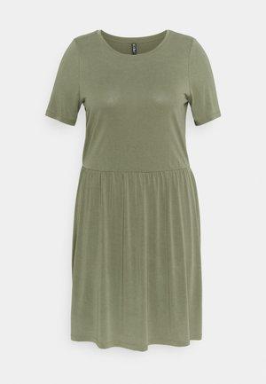 PCKAMALA DRESS - Jersey dress - deep lichen green