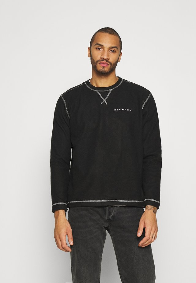 CONTRAST STITCH POLAR UNISEX - Zip-up hoodie - black