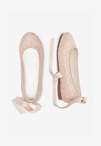 Next - PEWTER GLITTER TIE  - Ballet pumps - pink - 1