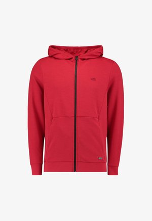 Zip-up hoodie - haute red