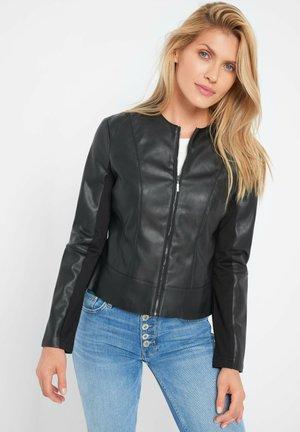 KURZE  - Faux leather jacket - schwarz