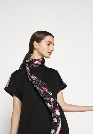 ALL OVER ORCHID SQUARE SCARF - Šátek - black