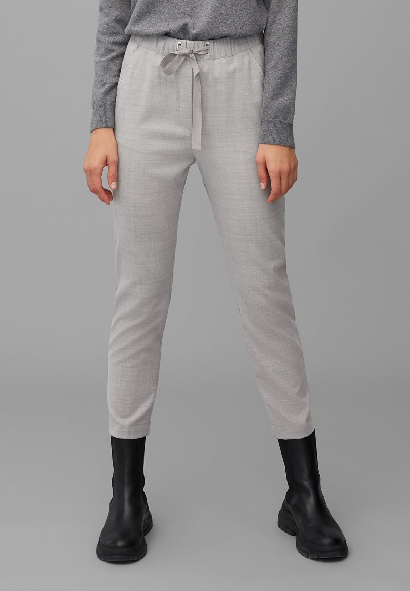 Marc O'Polo - Trousers - middle stone melange