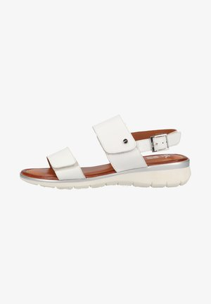 Sandales compensées - weiss