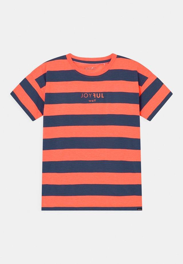 TEENAGER - T-shirt print - neon coral