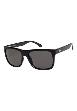 EQYEY - Sunglasses - shiny black/polarized grey