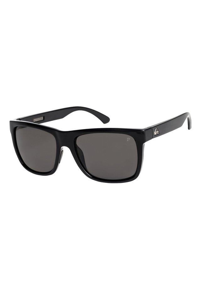 EQYEY - Sunglasses - shiny black/polarized grey