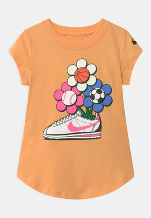 CORTEZ FLOWER - Triko s potiskem - orange chalk
