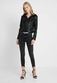Guess - LETIZIA JACKET - Faux leather jacket - jet black - 1