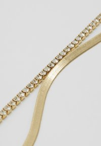 Orelia - CUPCHAIN FLAT SNAKE CHAIN 2 ROW - Náhrdelník - pale gold-coloured - 4