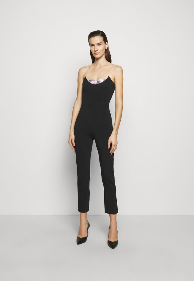 Jumpsuit - black/silver