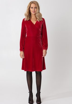 OLIVETTA - Cocktailjurk - red