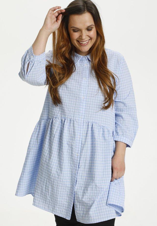 Sukienka koszulowa - light blue check