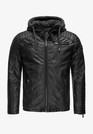 ILLINOIS CHICAGO - Faux leather jacket - schwarz