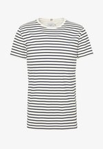 SAILOR  - Print T-shirt - off white/dark navy