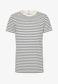 Les Deux - SAILOR  - Print T-shirt - off white/dark navy - 5