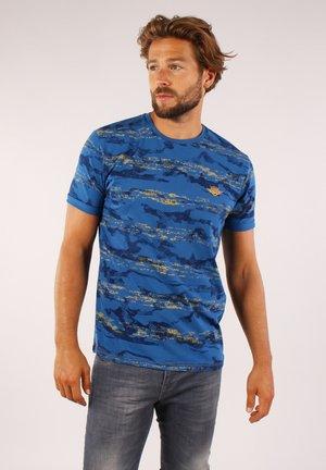 T-shirt print - cobalt