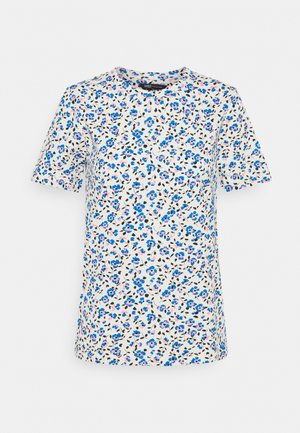 STRAIGHT TEE - T-shirts med print - blue