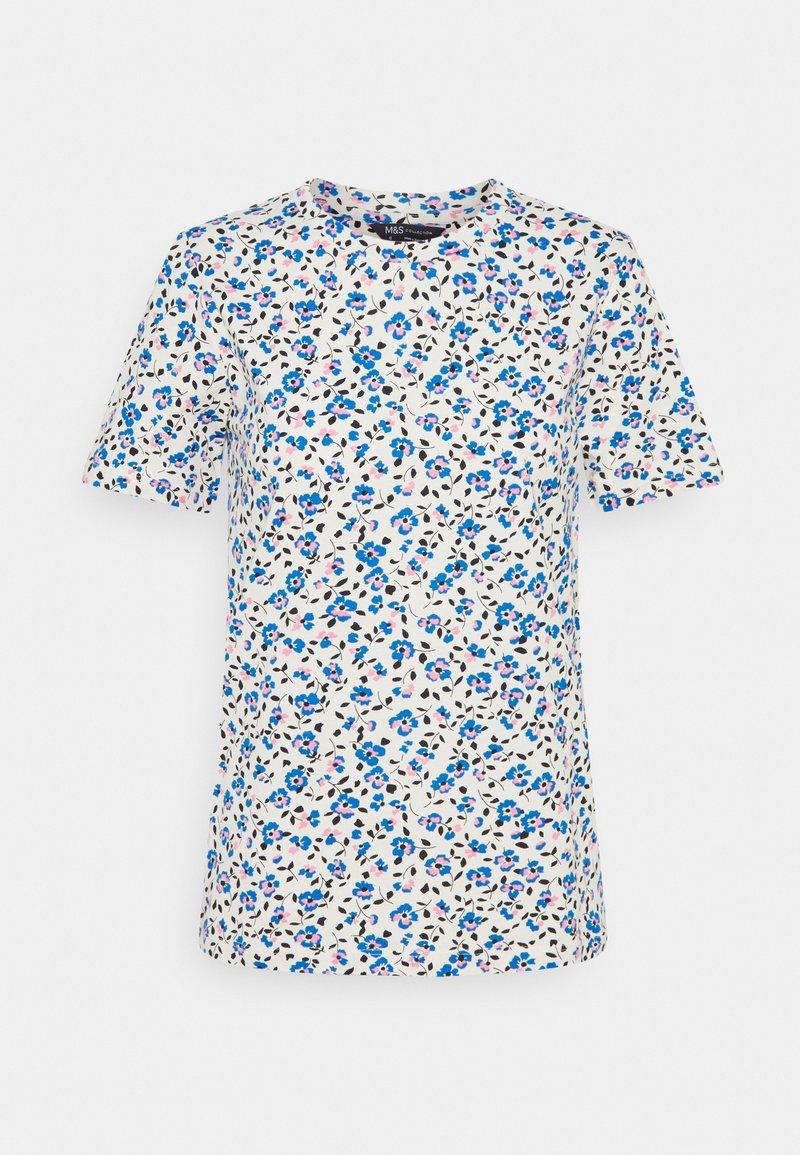 Marks & Spencer London - STRAIGHT TEE - Print T-shirt - blue